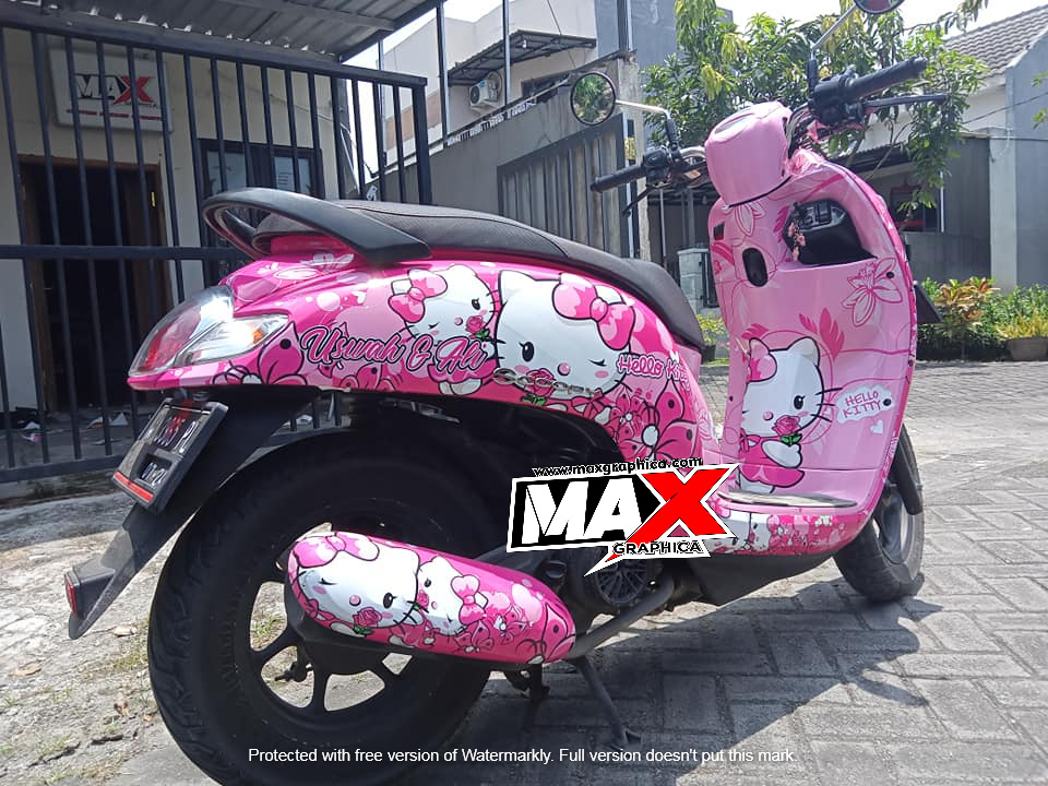 decal scoopy hello kitty maxgraphica cutting sticker sidoarjo